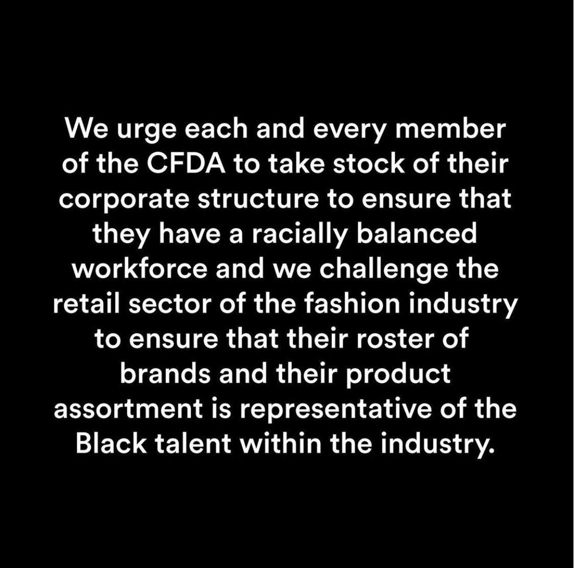 Il CFDA contro il razzismo sistemico copertina 1